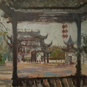 1566237355-1. chinese temple, 2018, acrylic, canvas, 19,6x23,6 inch, 50x60 cm.jpg