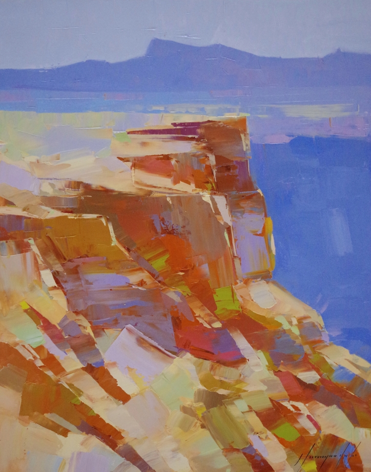 Grand Canyon - Arizona, Landscape oil Painting, Handmade art, One of a Kind, Signed with Certificate of Authenticity