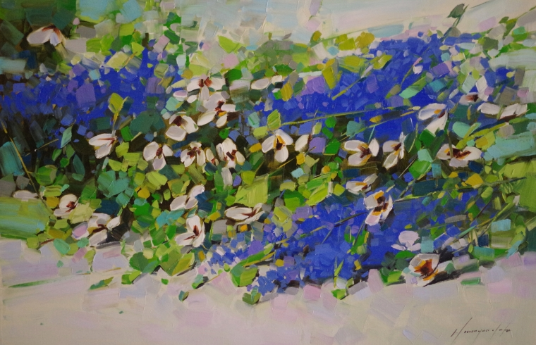 Lavenders, Original oil Painting, Handmade art, One of a Kind, Signed with Certificate of Authenticity