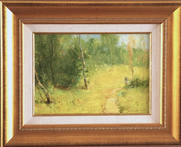 Landscape Original oil Painting, Handmade art, Framed, One of a Kind, Signed