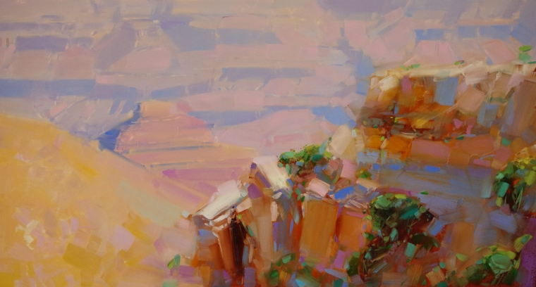 Grand Canyon, Landscape oil Painting, Handmade art, One of a Kind, Signed