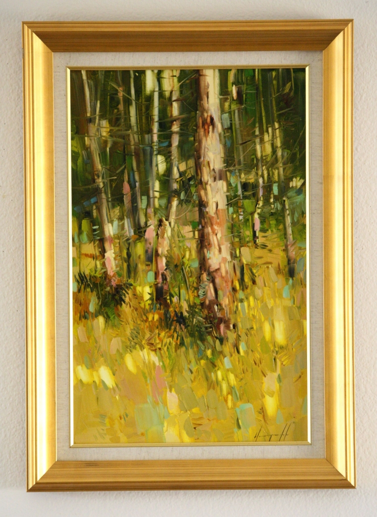 Autumn trees, Landscape oil Painting, Handmade art, Ready to hang, One of a Kind, Signed