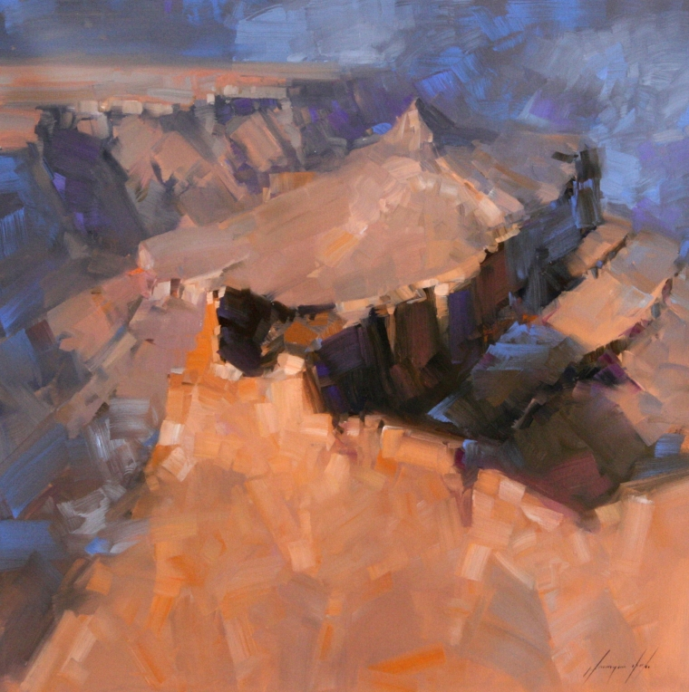 Grand Canyon, Landscape oil Painting, Large Size Handmade art, One of a Kind, Signed