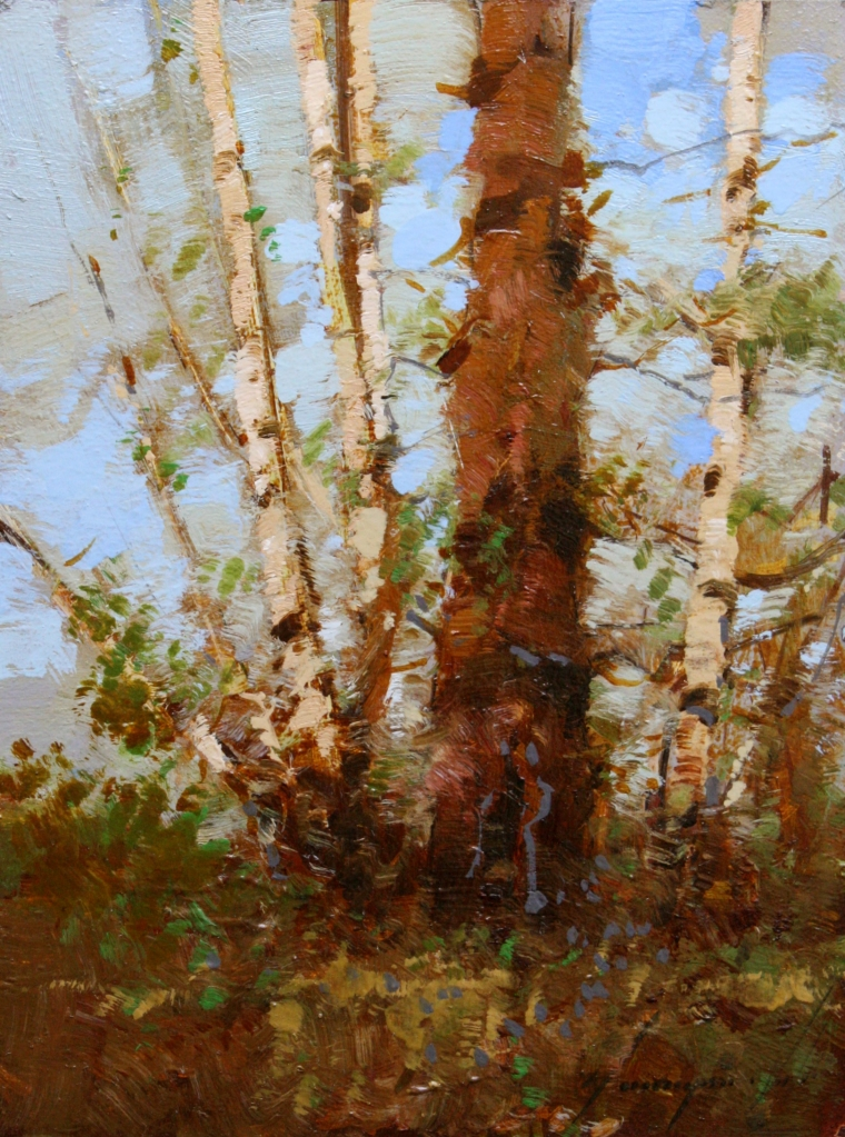 Birches Trees, Original oil Painting, Handmade art, One of a Kind, Signed