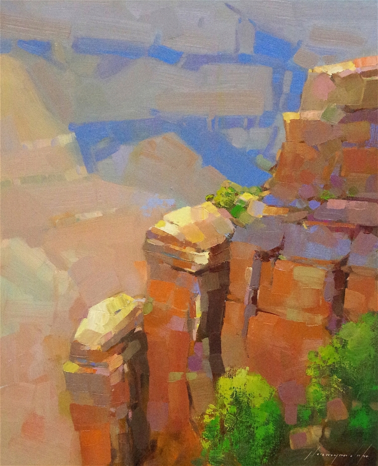 Grand Canyon, Landscape Original oil Painting, Handmade art, One of a Kind, Signed