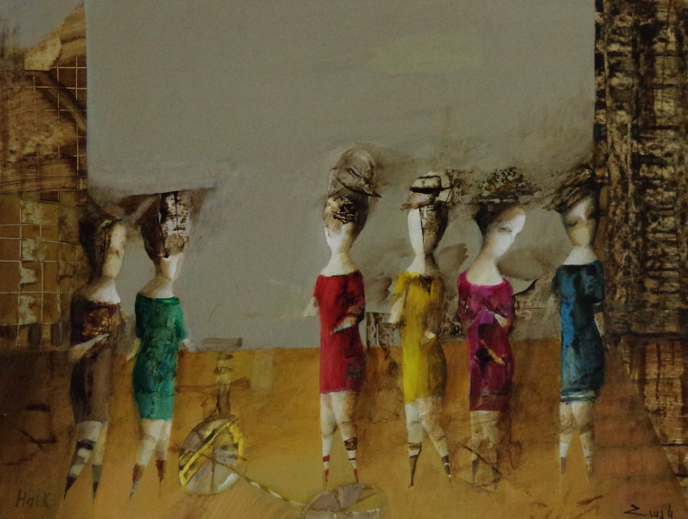 Discussion , Abstract art, Figurative oil Painting, Contemporary, Handmade, One of a kind