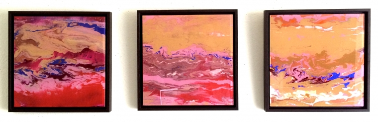 Framed Dance, Abstract art, Original painting on Plexiglass, Handmade Contemporary art, Large Size, Framed, One of a Kind