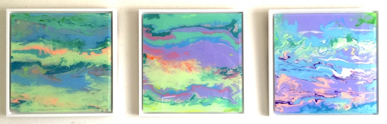 framed dance abstract art original painting on plexiglass handmade art large