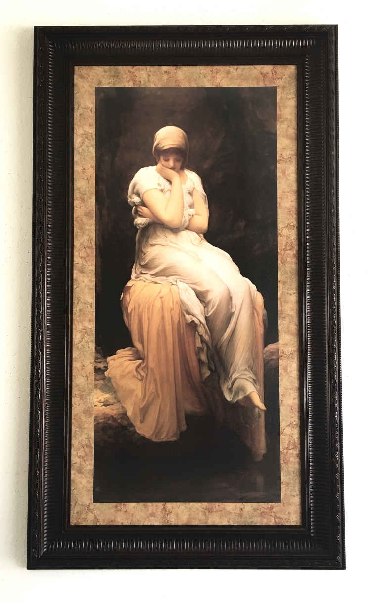 Figurative art by Frederic Leighton, Painting, Antique Style, Reproduction, Hi quality Giggle print, Large size, Framed, Ready to Hang