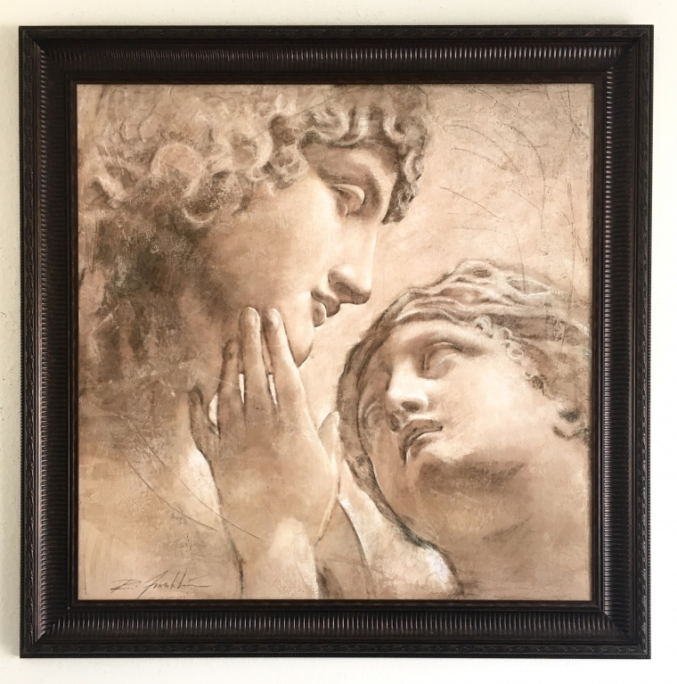 Figurative art, Painting by Richard Franklin, Antique Style, Reproduction, Hi quality Giggle print, Large size, Framed, Ready to Hang