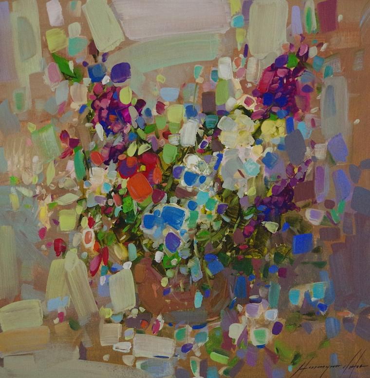Vase of Flowers, Original oil Painting, Handmade art, One of a Kind
