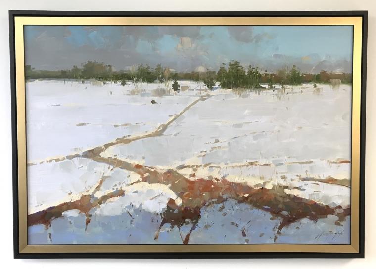 Winter Impression, Original oil Painting, Handmade artwork, One of a Kind