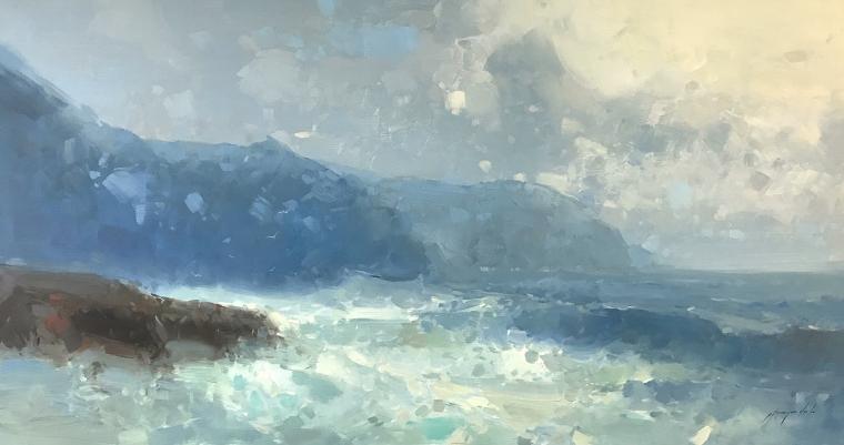 South Bay, Seascape, Original oil Painting, Handmade artwork, Ready to hang