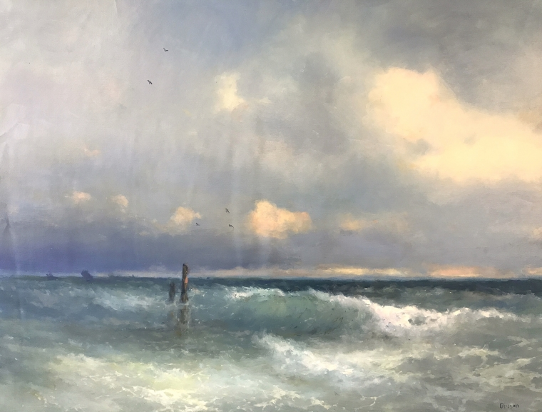 Ocean, Original oil Painting, Museum Quality, One of a Kind