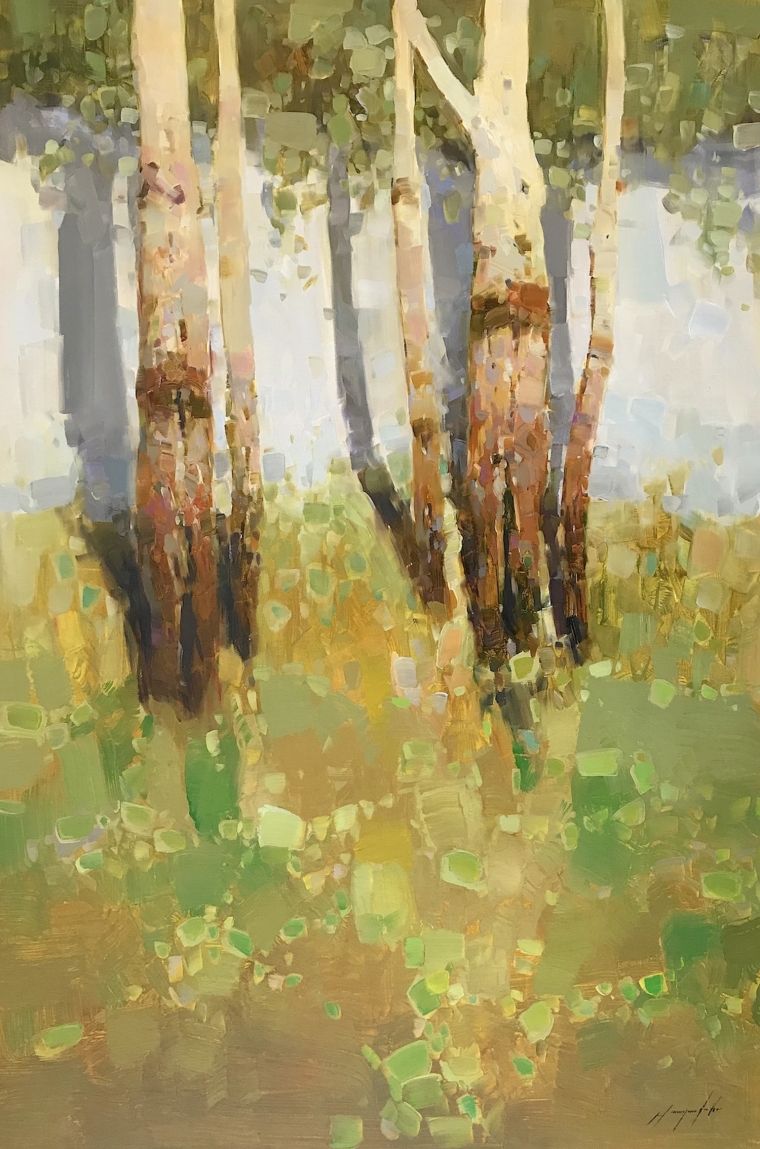 Birches Trees, Original oil Painting, Handmade artwork, One of a Kind