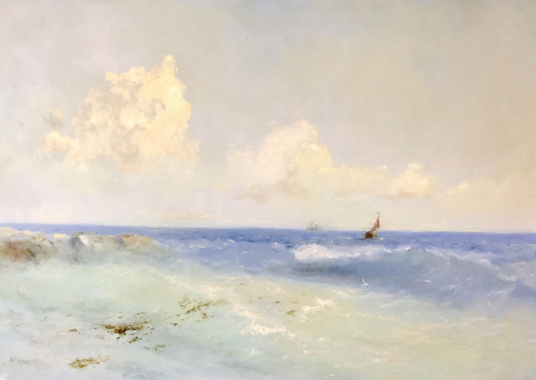 Sea Study- Morning,  Original oil Painting, Museum Quality, One of a Kind