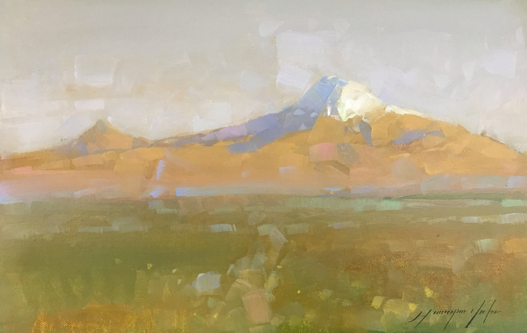 Ararat, Original oil Painting, Handmade artwork, One of a Kind
