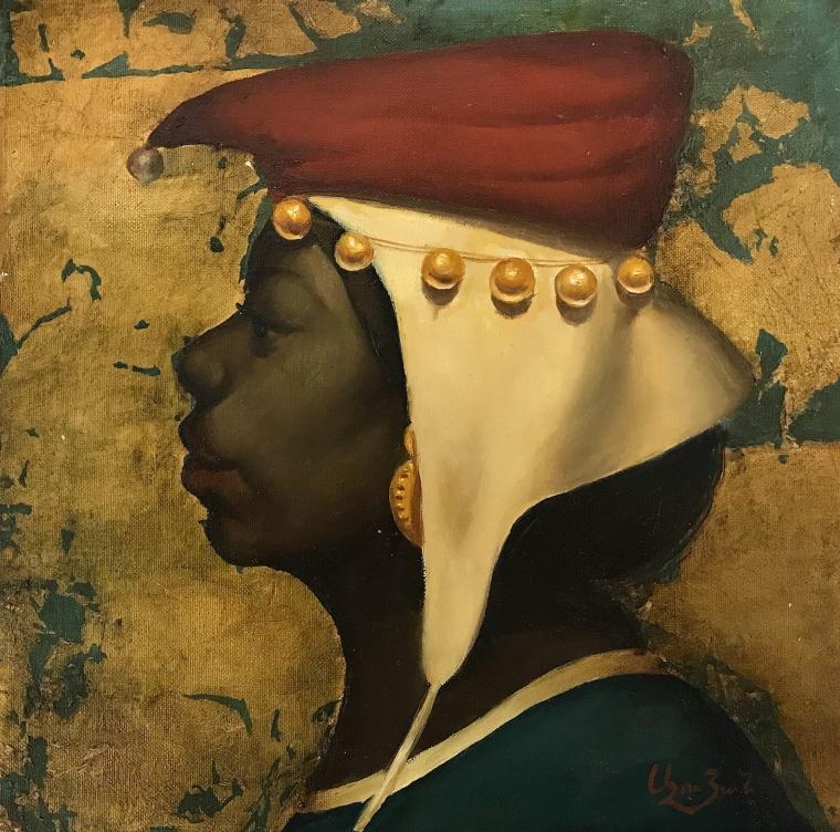 Portrait, Original oil painting, Handmade artwork, One of a kind