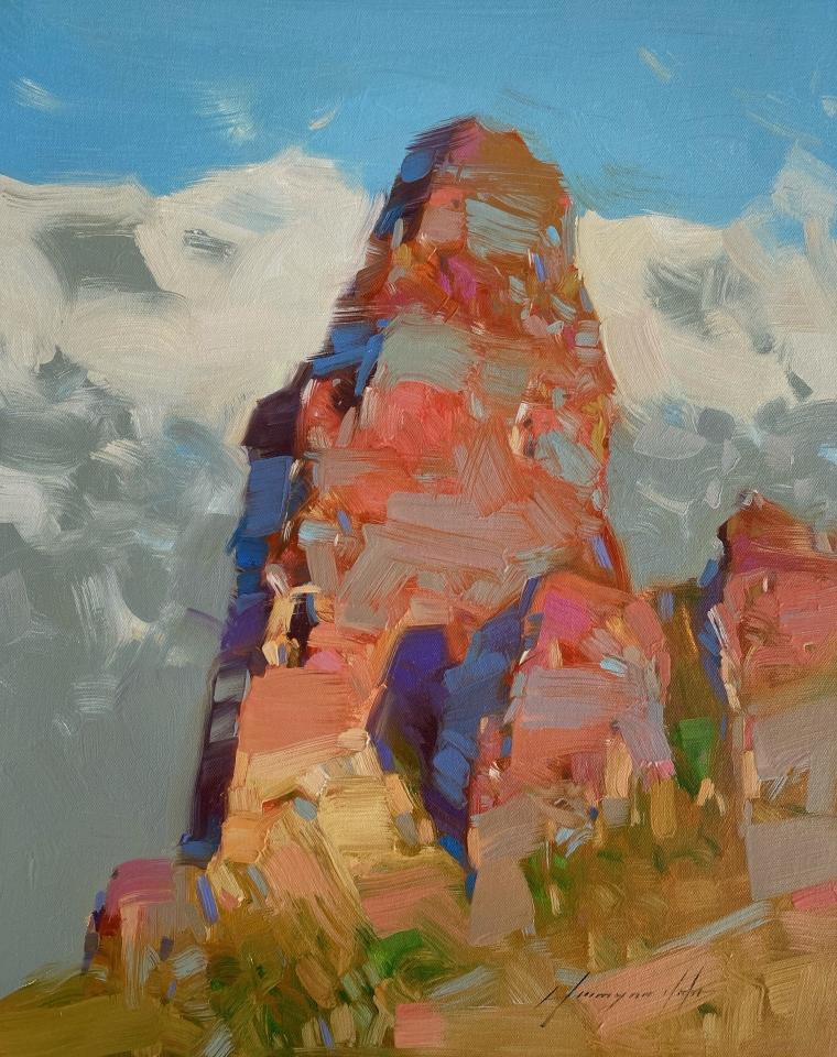 Rock in Sedona, Original oil Painting, Handmade artwork, One of a Kind